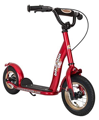 Bikestar Trottinette Enfant 2 Roues pour Garcons et Filles DE 4-6 Ans ★ Patinette 10 Pouces Classique avec Grande Roues pneumatique ★ Rouge