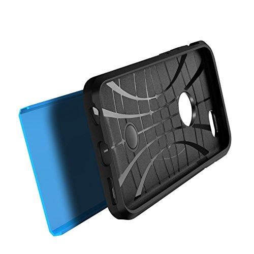 Handytasche Handyhülle Schutzhülle Armor Case Camouflage [Luftpolster-Technologie] für Iphone 6/6S (4,7') in [Grün Militär] doppelte Schutzschicht & extrem hoher Fallschutz Facil&co® Hellblau