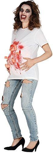 Lustige Schwangerschaft Kostüme (Damen Schwangerschaft Zombie Geburt Schwangerschaft Schwangerschaft Halloween Horror lustig Comedy Kostüm Kleid Outfit T-Shirt Top - UK)