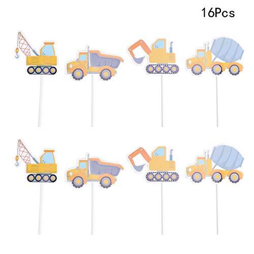 Bagger Truck Cake Topper Bagger Cupcake Toppers Kinder Geburtstag Traktor Thema Dekorationen für Geburtstag Baby Shower Party Supplies ()