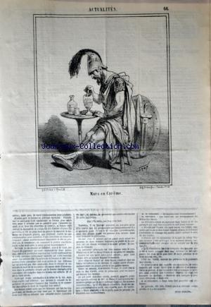 CHARIVARI (LE) du 30/03/1868 - LA SEMAINE DE LA BOURSE - LES JUIFS DE ROUMANIE - L'EMPRUNT