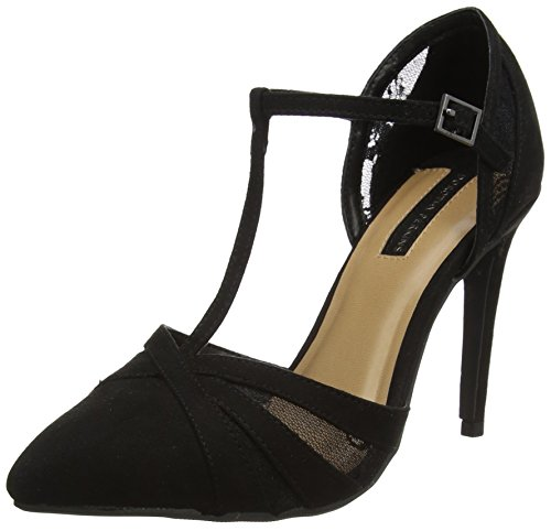 Dorothy Perkins Damen gazed Pumps Schwarz (Schwarz)