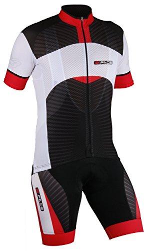 threeface completo estivo ciclismo maglia + salopette axe traspirante abbigliamento bici rosso - 416RoJoZSQL - Threeface Completo estivo ciclismo maglia + salopette AXE traspirante abbigliamento bici rosso