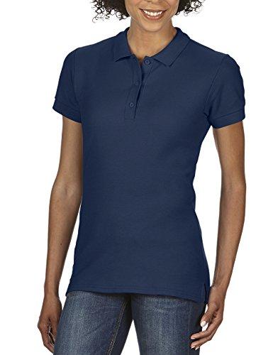Gildan Damen Poloshirt Premium Cotton Double Piqué Polo/85800L, Einfarbig, Gr. 40 (Herstellergröße: L), Blau (Navy 32) (Dark Navy Polo)