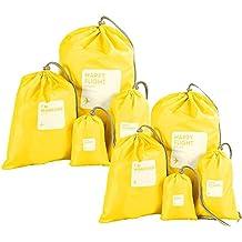 Abaría - Organizadores de bolso impermeable (8 unidades) - Bolsas de cuerda para viaje