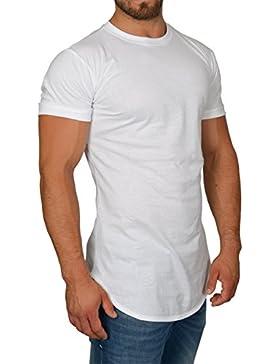 MMC Oversize Shirt Herren - Basic T-Shirt Männer - Kurzarm Longshirt Länger Geschnitten