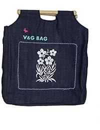 Multipurpose Washble Denim Grocery Bag/Fruit Vegetable Bag/General Use Bag/Shopping Bag/Luggage Bag | DCFW00-3