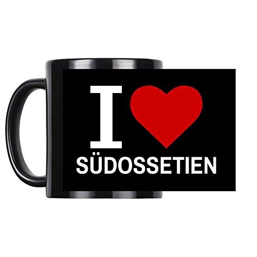 Tasse Classic I Love Südossetien schwarz