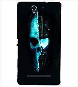 PrintDhaba Skull D-2462 Back Case Cover for SONY XPERIA C3 (Multi-Coloured)