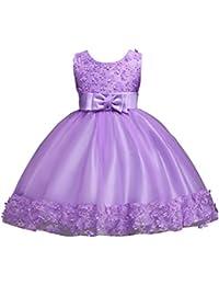 ZAMME Vestido floral de las muchachas del vestido de la boda