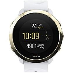 Suunto 3 Fitness - Reloj Multisport con pulsómetro incorporado y la función de conectividad GPS de la aplicación Suunto, Unisex, Adulto, Blanco/Dorado, Talla Única