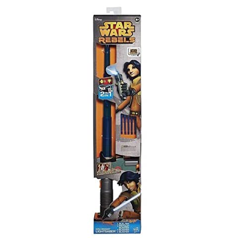 Hasbro B0653EU4 - Star Wars Rebels Ezras elektronisches Lichtschwert mit Blaster (Padawan Star Wars Kostüm)