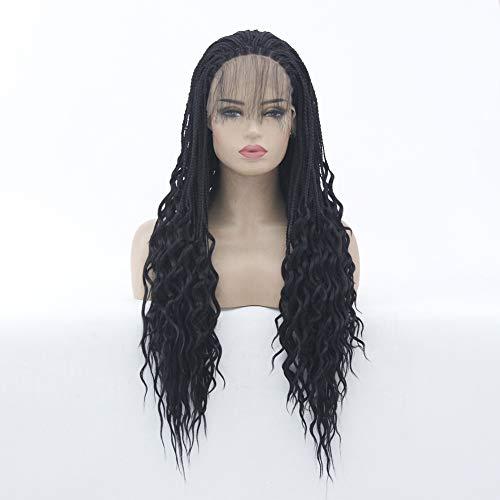 XIAOWEIBA Haar Perücken Erweiterung für Schwarze Frauen Twist Crochet Braids Perücke Kunstfaser Haarteil,24inch