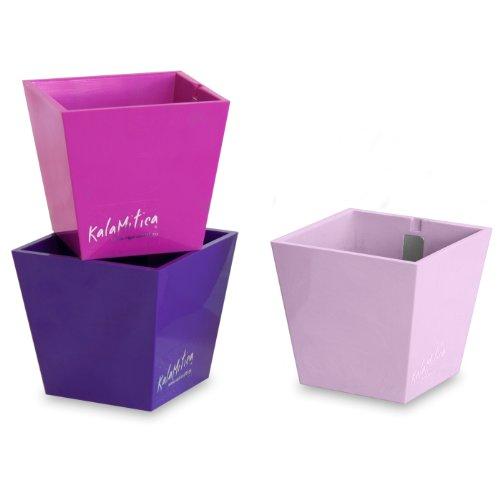 a magnetische Vase - Set mit 3 Pyramiden, violett Theme, Ø 5,5 cm (Kunststoff-zylinder Vase)