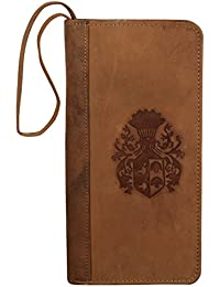 New Year Gifts For Your Loved Ones-Style98 Tan Handmade Handmade Leather Women's Clutch|| Men's Travel Wallet|... - B078N32DNP
