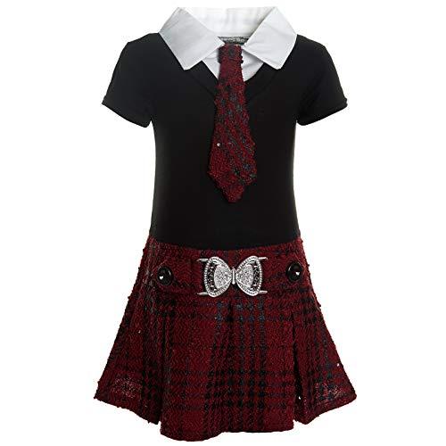 BEZLIT Mädchen Kleider Peticoat Festkleid Freizeit Sommer Kleid Kostüm 21436 Bordeaux Größe 104