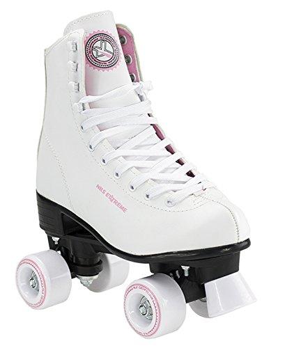 Rollschuhe für Kinder Skates Rollerskates Inliner Disco Skates Sport NQ8400S (Weiß, 36)