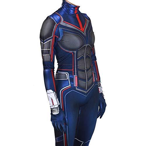 Ironman Weiblicher Kostüm - YXIAOL Halloween Ameise Mann 2 Wespe Weibliches Cosplay Kostüm, Superheld Kostüm, Karneval Karneval Party Kostüm, 3D Lycra Strumpfhose (S-XXXL),Adult-S