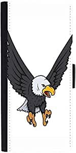 Snoogg Bald Eagle Vector Illustration Designer Protective Phone Flip Case Cover For Intex Eco 102E