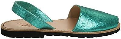 Avarca Minorquines-Sandalias para bebé, diseño de mujer, color Verde