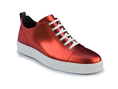 DIS - Pietro - Sneakers Basses - Unisexe Rouge