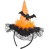 Leisial Cappello Fasce per Capelli Forma di Cappello di Strega Copricapo di  Pizzo con Paillettes Halloween 2734fc599269
