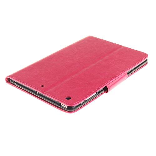 Coque iPad Mini 3 à Rabat avec Support,iPad Mini 2 Étui Housse,Ekakashop Jolie Motif Couple de Pissenlit Vert PU Cuir Protecteur Shell Tablette Couverture Filp Case Stand Coque Fermeture Magnétique Pl Rose Rouge