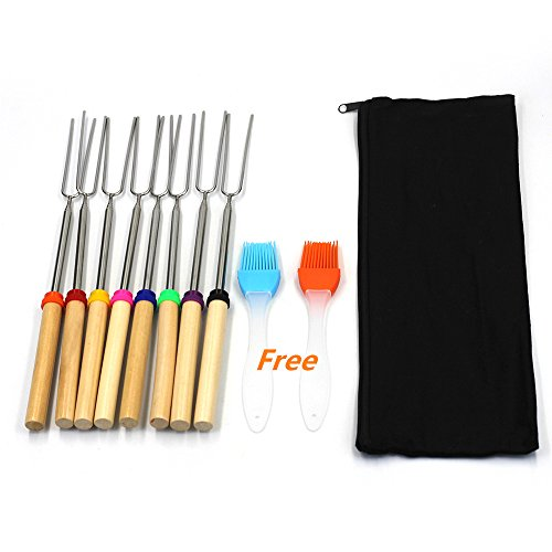 MMBox 8 PCS BBQ Gabeln Marshmallow Bräter Sticks,