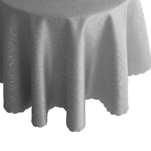 Tischdecken Rund 160 cm Muster & Farbe wählbar - Bronze Grau Tischdecke