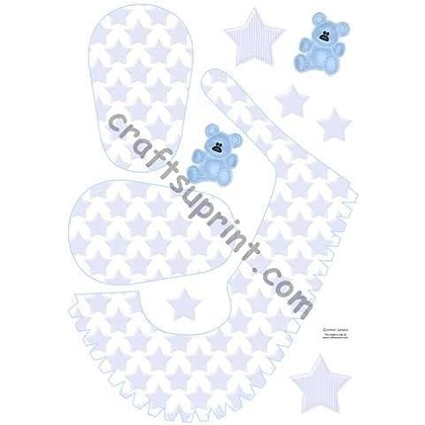 Oso azul bebé zapato por Ammie Sanders