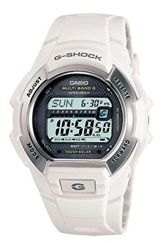 Casio Herren-Armbanduhr G-Shock Solar Atomic Weiß weiß