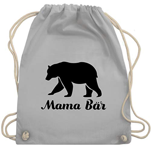 Muttertag - Mama Bär - Unisize - Hellgrau - WM110 - Turnbeutel & Gym Bag