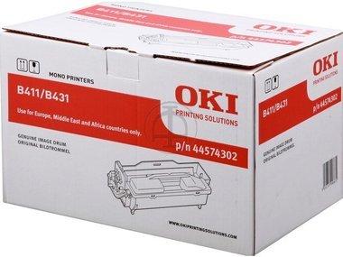 Original OKI 44574302 / B411, für MB 491 Plus Premium Trommel, Farblos, 25000 Seiten