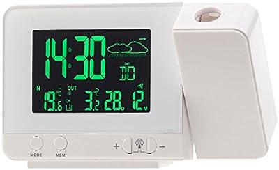 infactory Dualalarm-Wecker: Funk-Wetterstation mit Projektions-Wecker, Außensensor und USB, weiß (Digital-Wetterstation mit Display) von infactory bei Du und dein Garten