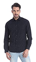 Jack & Jones Mens Casual Shirt (5713023480739_12107688Black_Large)