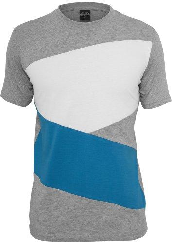 Image of Urban Classics Zig Zag Tee Shirts Streetwear Men, gry/tur/wh, Small