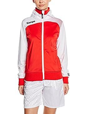 Kempa Mujer Chaqueta Emotion Chaqueta con capucha para mujer Varios colores rojo / blanco Talla:medium