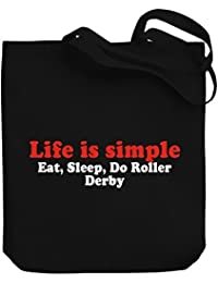 Teeburon LIFE SIMPLE EAT , SLEEP do Roller Derby Bolsa de Lona
