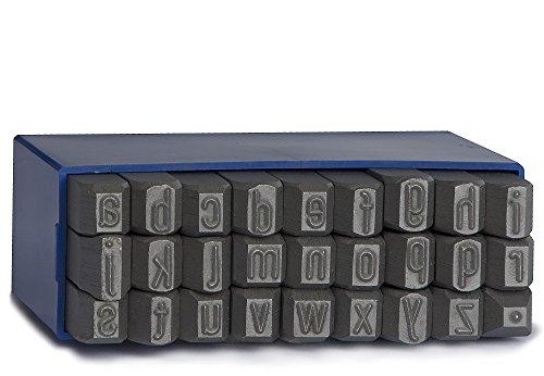 Gravurem 10203000 Schlagbuchstaben a-z.(Punkt) (KLEINBUCHSTABEN) in Schrifthöhe 3mm