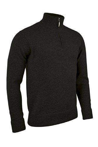 Glenmuir Mens Coll Zip Neck Lambswool Golf Sweater 2014 Black