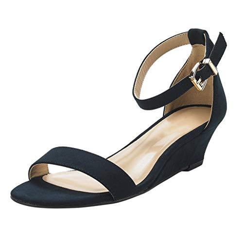 ┃BYEEEt┃ Sandali Estivi Donna Eleganti Scarpe da Donna Elegante Sandali da Viaggio per Spiaggia Moda Scarpe Casual Sandali con Cinturino alla Caviglia E Fibbia alla Caviglia