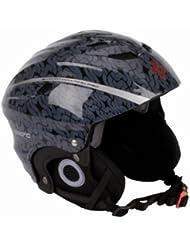 Summit modischer Skihelm / Skatehelm - mit Aufdruck (XS||schwarz silber)