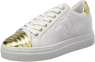 Trussardi Jeans 79S60753, Sneaker a Collo Basso Donna, Multicolore (White/L.Gold), 38 EU