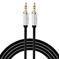 Audio cable ActŽ Stereo 3.5mm Premium Auxiliary Audio Cord - Male to Male Gold Plated Cable for Apple iPhone, iPod, iPad, Samsung, LG, HTC, Motorola, Sony Android Smartphones Tablets, Microsoft Nokia Lumia Phones, Fire Smartphones MP3 Players Black