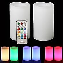 Frostfire candlezest esterni impermeabile energia solare–2candele cambiacolore con telecomando e timer