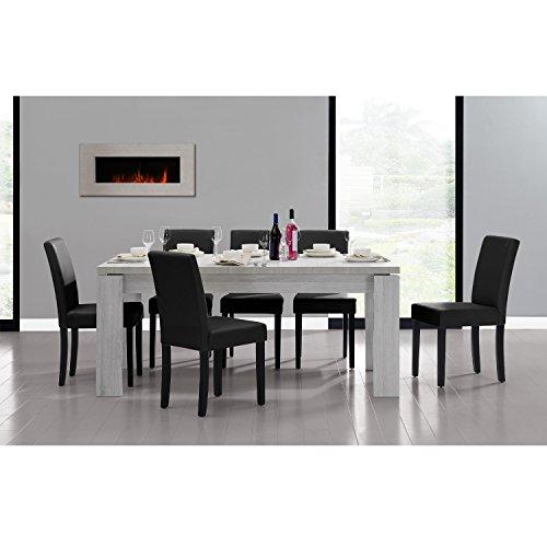 [en.casa] Set de comedor mesa 'Helsinki' (blanca -...