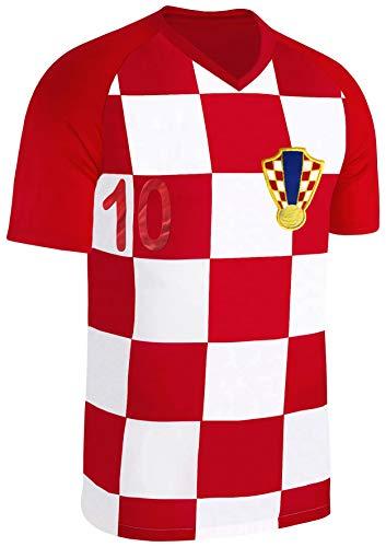 Blackshirt Company Kroatien Trikot Fußball Fan Trikot Rot Größe XL