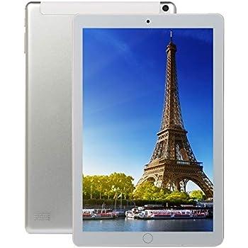 Meiyiu 10.1 Pulgadas 8 + 128GB 4G-LTE Tablet PC IPS HD Pantalla Doble Tarjeta Llamada telefónica Tablet PC Enchufe de Plata de la UE