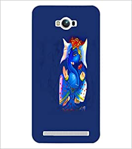 PrintDhaba Lord Ganesha D-5577 Back Case Cover for ASUS ZENFONE MAX ZC550KL (Multi-Coloured)