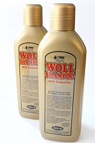 Woll-Shampoo Gold mit Lanolin 2er Set von Schmees 2000ml, Wollreiniger,